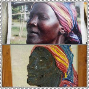 Schilderij Tanzania Mummy in de maak